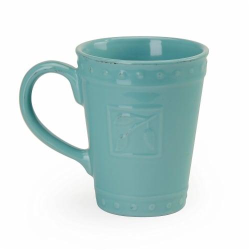 Sorrento Aqua Mugs, Set of 4 Perspective: front