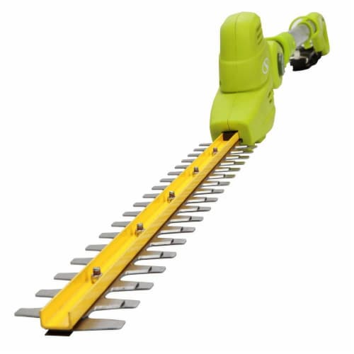 Electric Pole Hedge Trimmer  18 in. 3.8 Amp - Green Perspective: front