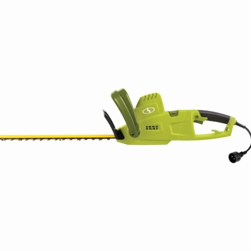 Multi-Angle Telescoping Convertible Electric Pole Hedge Trimmer  Green - 19 in. Perspective: front