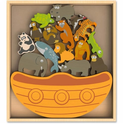 Endangered Animals Balance Boat with Wood - Assorted Perspective: front