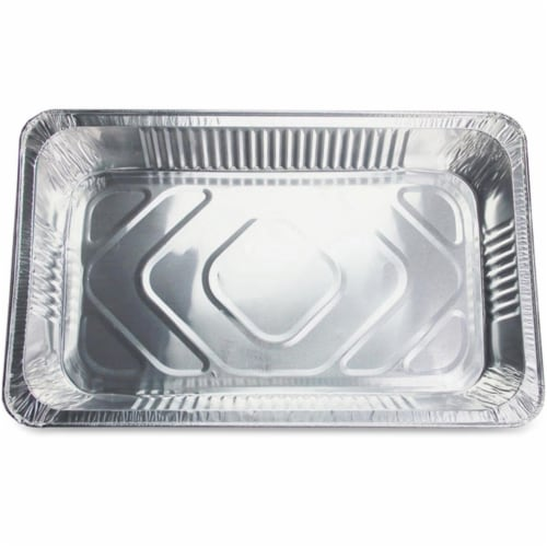 Full Size Disposable Aluminum Pan Perspective: front