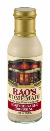 Rao's Homemade Roasted Garlic Vinaigrette Perspective: front