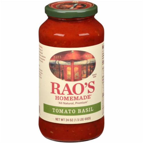 Rao's Homemade Tomato Basil Sauce Perspective: front