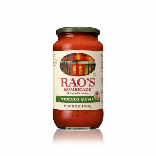 Rao's Homemade Tomato Basil Pasta Sauce Perspective: front