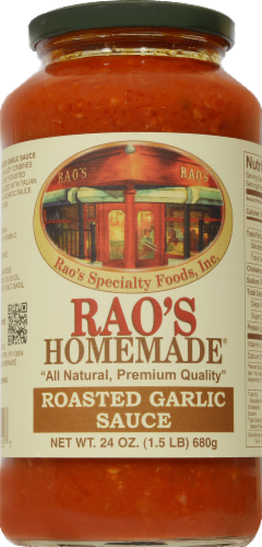 Rao's Homemade Roasted Garlic Sauce Perspective: front