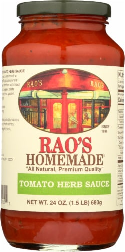 Rao's Homemade Tomato Herb Sauce Perspective: front