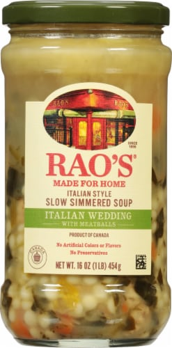 Rao's Homemade Italian Wedding Soup Perspective: front