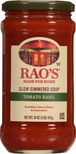 Rao's Homemade Tomato Basil Soup Perspective: front