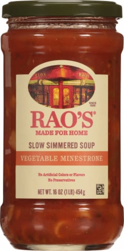 Rao's Vegetable Italian Style Slow Simmered Minestrone Soup Perspective: front