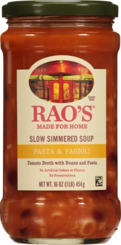 Rao's Pasta and Fagioli Soup Perspective: front
