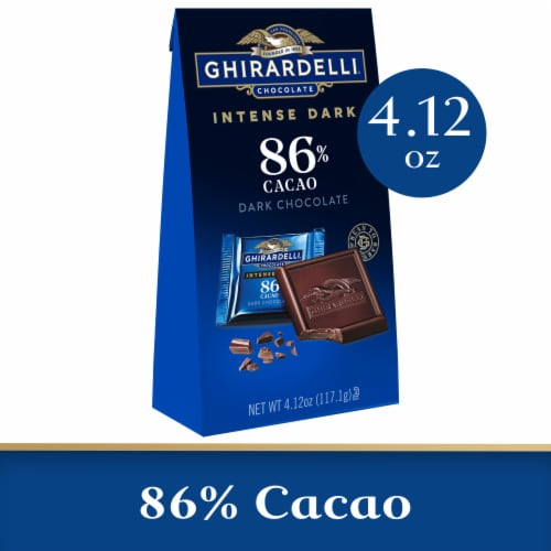 Ghirardelli Intense 86% Cacao Midnight Reverie Dark Chocolate Squares Perspective: front