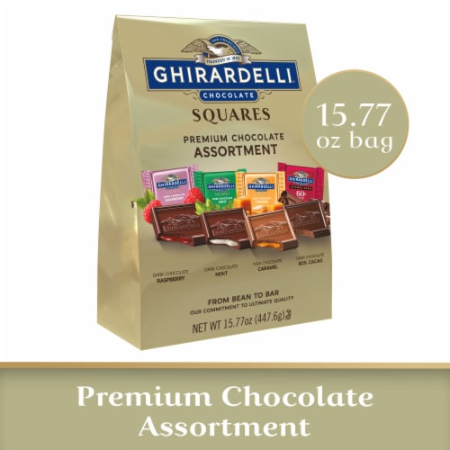 Ghirardelli Squares Premium Chocolate Assortment Perspective: front