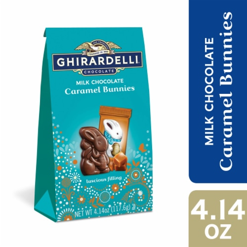 Ghirardelli Easter Milk Chocolate Caramel Bunnies Perspective: front