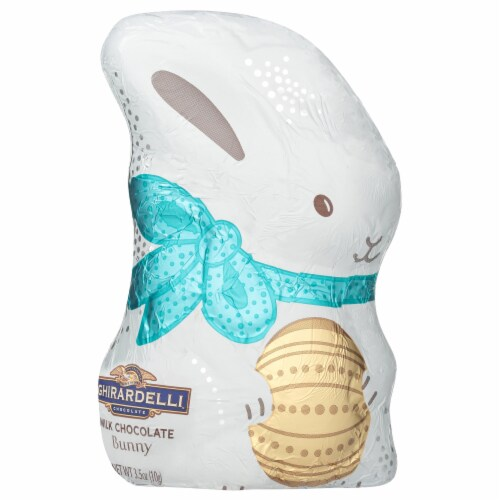 Ghirardelli Hollow Milk Chocolate Bunny Perspective: front