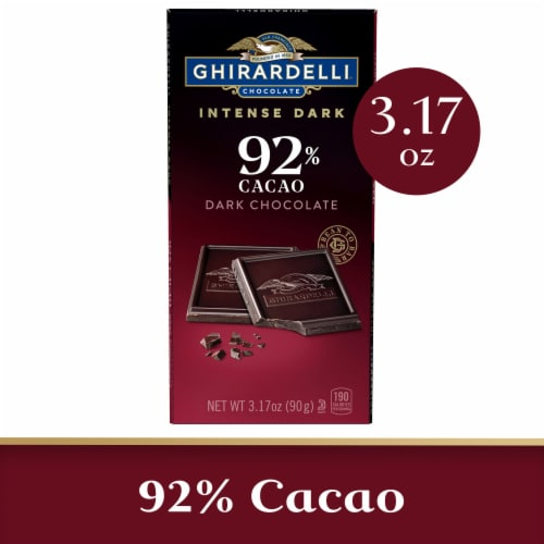 Ghirardelli Intense Dark 92% Cacao Chocolate Bar Perspective: front