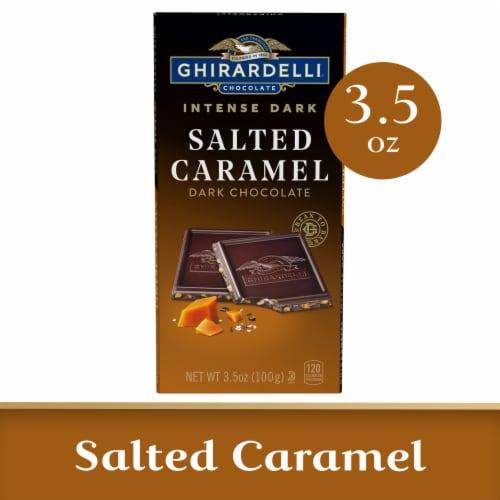 Ghirardelli Intense Dark Salted Caramel Cascade Chocolate Bar Perspective: front
