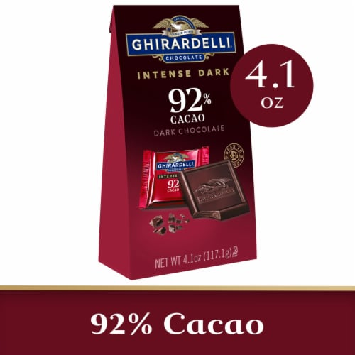 Ghirardelli Intense Dark 92% Cacao Dark Chocolate Squares Perspective: front