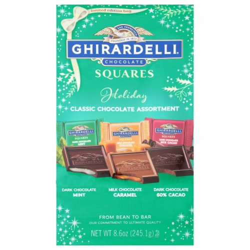 Ghirardelli Holiday Chocolate Assortment Bag Perspective: front
