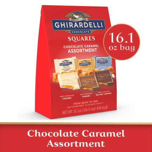 Ghirardelli Chocolate Caramel Squares Assortment Perspective: front
