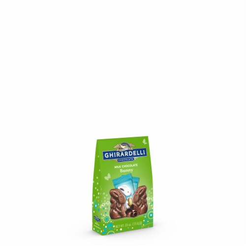 Ghirardelli Easter Milk Chocolate Bunnies Perspective: front