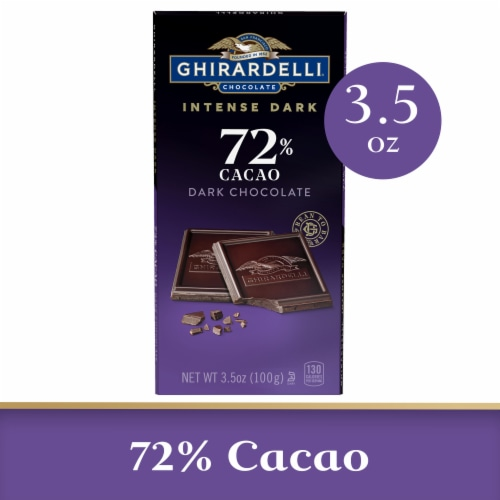 Ghirardelli Intense Dark 72% Cacao Chocolate Bar Perspective: front
