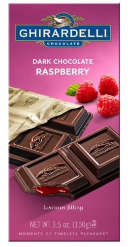 Ghirardelli Dark Chocolate Raspberry Bar Perspective: front