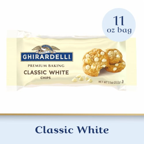 Ghirardelli Classic White Chocolate Premium Baking Chips Perspective: front