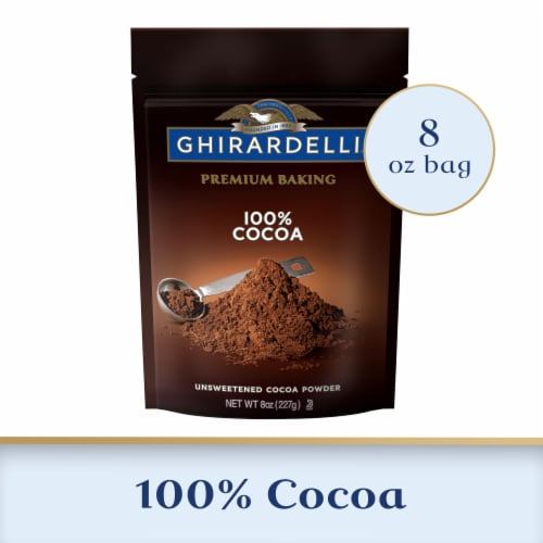 Ghirardelli 100% Unsweetened Premium Baking Cocoa Powder Perspective: front