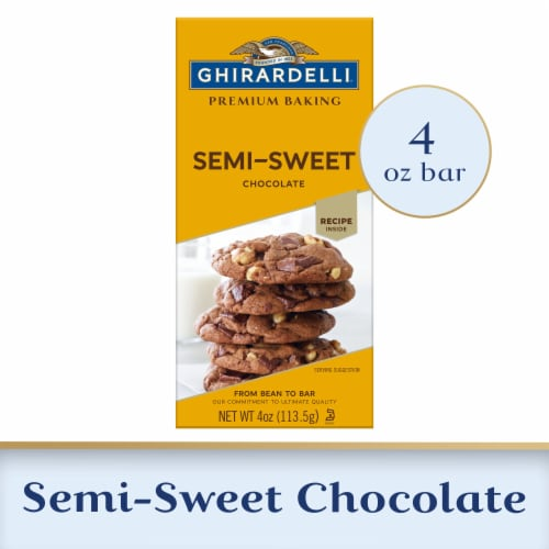 Ghirardelli Premium Baking Bar Semi-Sweet Chocolate Perspective: front