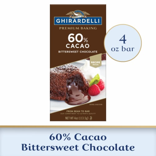 Ghirardelli 60% Cacao Bittersweet Baking Chocolate Bar Perspective: front