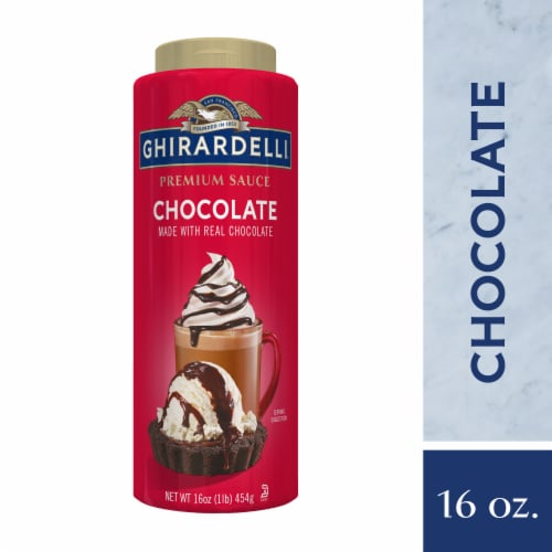 Ghirardelli Premium Chocolate Sauce Perspective: front