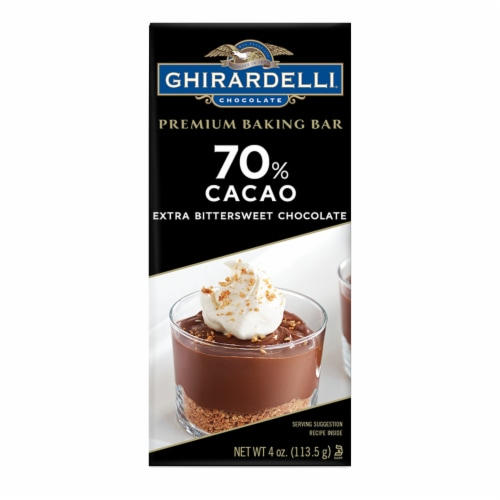 Ghirardelli 70% Cacao Extra Bittersweet Baking Chocolate Perspective: front