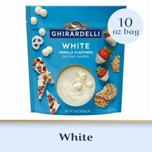Ghirardelli White Melting Wafers Perspective: front