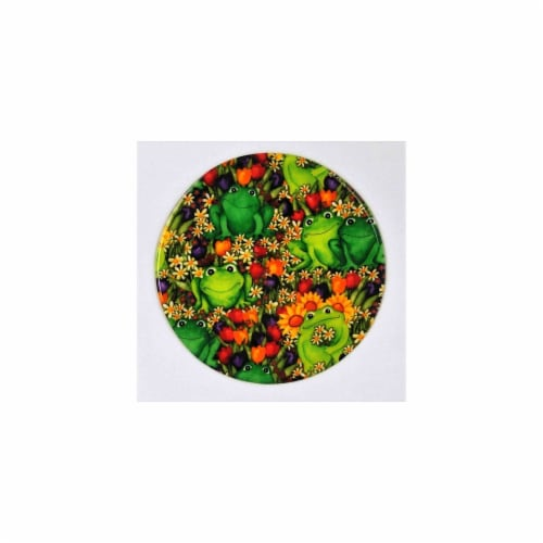 Andreas JO-209 Froggies Round Silicone Mat Jar Opener - Pack of 3 trivets Perspective: front