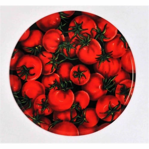 Andreas JO-216 Tomato Round Silicone Mat Jar Opener - Pack of 3 trivets Perspective: front
