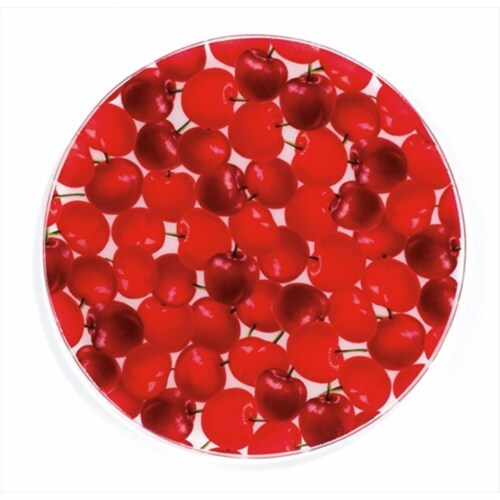 Andreas JO-4 Organic Cherries Round Silicone Mat Jar Opener - Pack of 3 trivets Perspective: front
