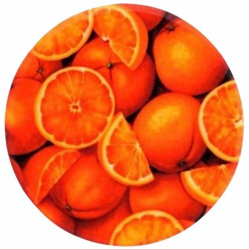 Andreas TR-923 Oranges Silicone Trivet - Pack of 3 trivets Perspective: front