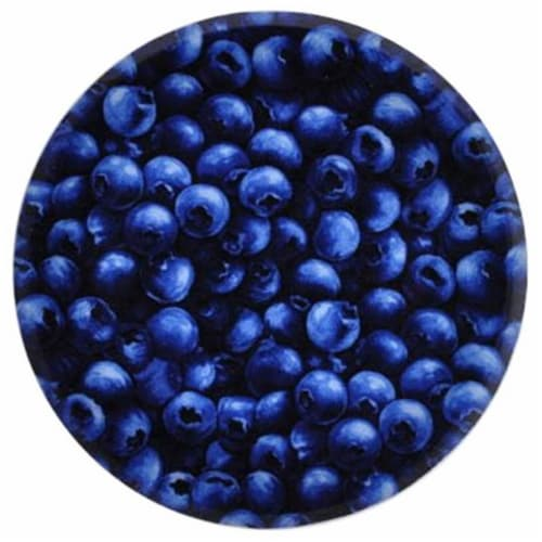 Andreas TR-927 Bold Blueberry Silicone Trivet - Pack of 3 trivets Perspective: front