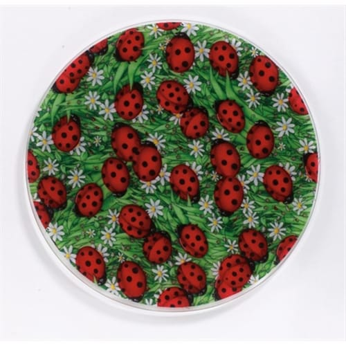 Andreas TRT-51 10 in. Lady Bugs Silicone Trivet - Pack of 3 Perspective: front