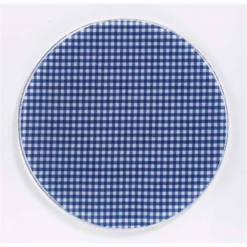 Andreas JO-106 6.5 in. Round Silicone Mat Jar Opener - Blue Gingham - Pack of 3 Perspective: front