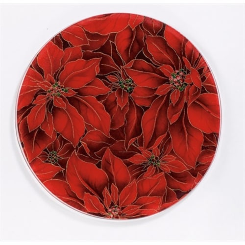 Andreas JO-16 6.5 in. Round Silicone Mat Jar Opener - Poinsettia - Pack of 3 Perspective: front