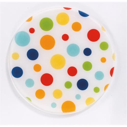Andreas JO-63 6.5 in. Round Silicone Mat Jar Opener - White Dots - Pack of 3 Perspective: front
