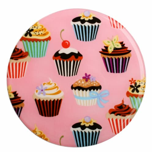 Andreas TR-101 Cupcakes Silicone Trivet - Pack of 3 Perspective: front