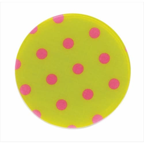 Andreas TR-159 Green/Pink Dots Silicone Trivet - Pack of 3 Perspective: front