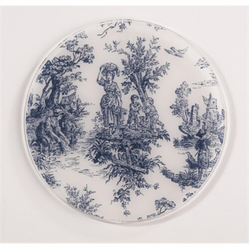 Andreas TR-167 Toile Blue Silicone Trivet - Pack of 3 Perspective: front