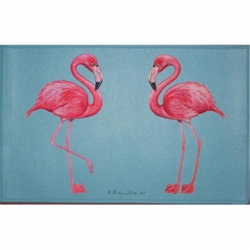 Betsy Drake DM084G Flamingo Door Mat 30''x50'' Perspective: front