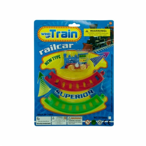 Bulk Buys OC259-72 Wind Up Toy Train With Track Set Perspective: front