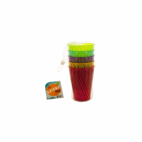 Bulk Buys OD471-12 Medium Plastic Tumbler Set Perspective: front