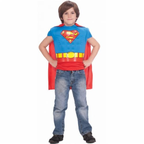 Costumes for all Occasions RU885101 Superman Musc Shirt Cape Child Perspective: front