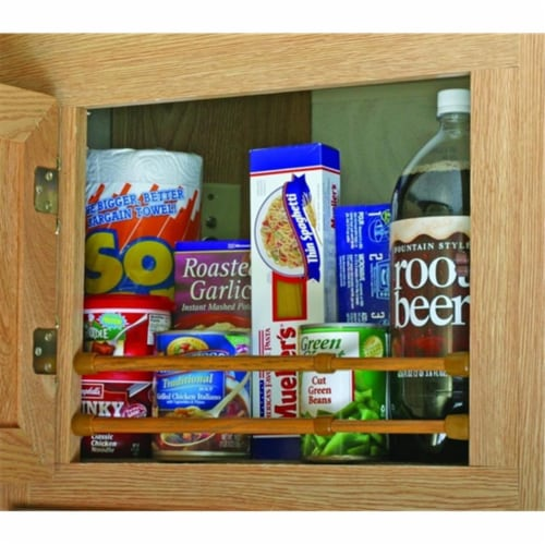 Camco 43833 Oak-Finish Cupboard Bar - 3 Pack Perspective: front